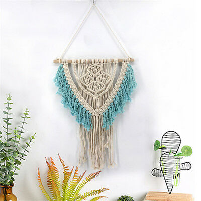 Hand Knit Macrame Woven Wall Hanging Tapestry BOHO Chic Carft Home Decoration