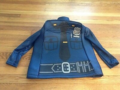 Used Boys' Lego Police Officer Prestige Deluxe SHIRT COAT ONLY Costume Small 4-6