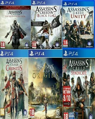 PS4 Assassins Creed PS4 All Titles Same Day Dispatch via Super Fast Delivery