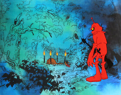 WIZARDS ANIMATION ART: ORIGINAL RALPH BAKSHI PRODUCTION CELS + Free Autograph