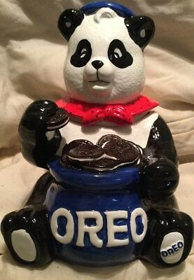 Vintage Oreo Cookie Nabisco Classic Collection Panda Bear Cookie Jar NEW