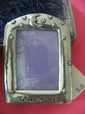 Pewter picture frame for baby, first photo  NEW in box, made in Canada