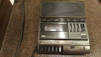 Panasonic RR-830 VSC Dictation Machine Variable Speech Control Tested Works Good