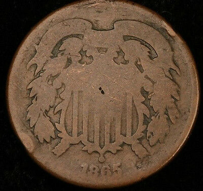 1865 United States Two Cent Piece**see Photos