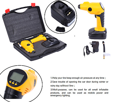 12V Car Air Compressor Handheld Portable Tire Inflator Digital LCD Rechargeable