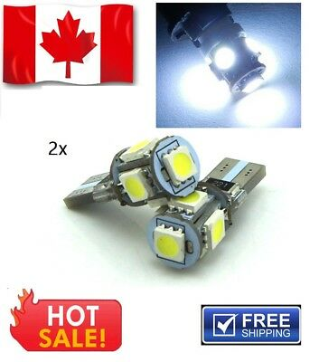2x T10 Canbus Error 194 168 2825 5050 5SMD LED Bright Car Lights Lamp Bulb NEW