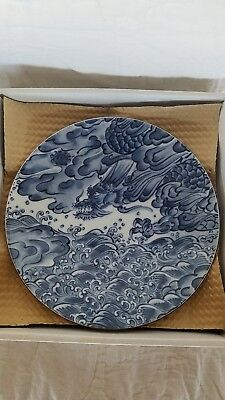 "SEA DRAGON Fitz and Floyd - 4 Footed Salad Plates 7-1/2"" Excellent Condition"