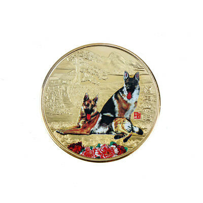 1Pc 2018 Year Of The Golden Dog Coin For Chinese Commemorative Coins NJ