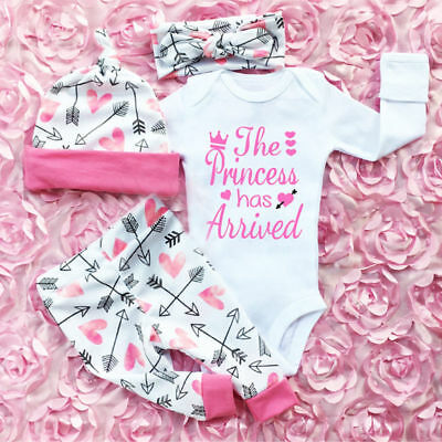 UK Infant Newborn Outfit Baby Girls Rompers Leggings Playsuit Clothes Bodysuit