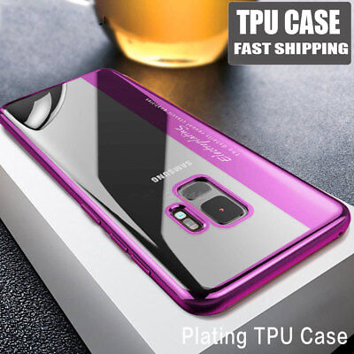 For Samsung Galaxy S8 S9 Plus Case Ultra Slim 360° Shockproof TPU Clear Cover aq