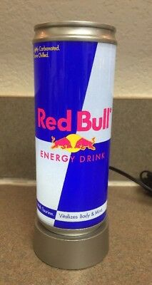 """Vtg Red Bull Can Led Light Up AC Great Shape!! 6 1/4"""" X 2"""" Energy Drink Bar Cave"""
