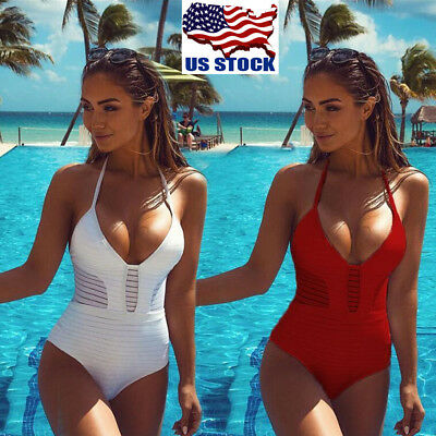 Sexy One-Piece Monokini Swimsuit Swimwear Beachwear Push Up Bathing Suit Bikini