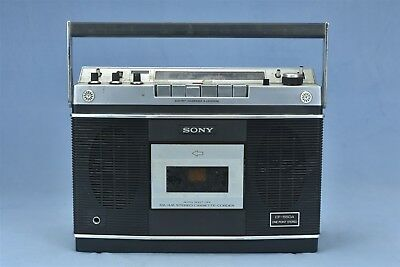 Vintage SONY CF-550A PORTABLE RADIO STEREO CASSETTE PLAYER BOOMBOX  #04638