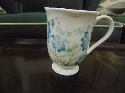 """lenox Butterfly Meadow You're The Best Footed Mug 4 1/2"""" Barely Used"""