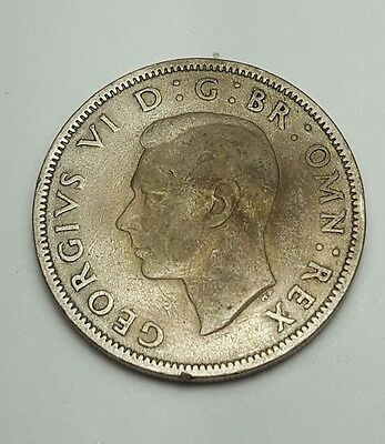 Great Britain Florin, Two Shillings, 1948 sharp empire coin