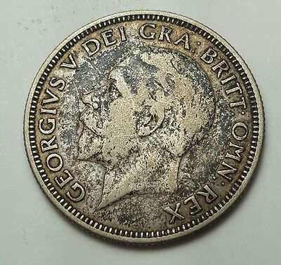 Great Britain, George V, Florin, Two Shillings, 1928, Silver