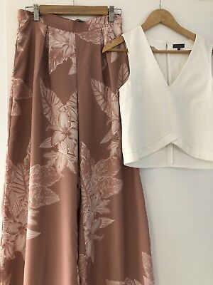 Sheike Pants and Crop Top Combo Formal Wedding Outfit Size 8 And size 10