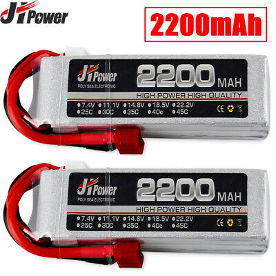 11.1V 2200mAh 3S 25C LiPo Battery T Plug For RC Car Truck Helicopter Airplane