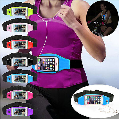 Running Gym Waist Belt Bag Sport Outdoor Cover Case Pouch For iPhone x 6 7 Plus