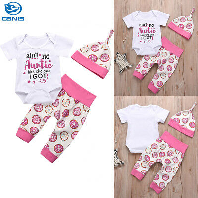 2018 Infant Newborn Outfit Baby Girl Romper Leggings Playsuit Clothes Bodysuit