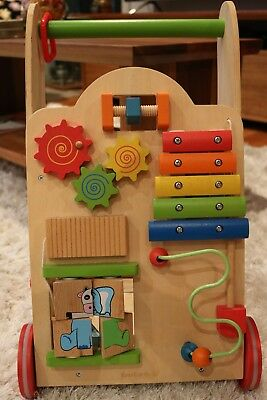 Ever Earth Wooden Push Along Activity Toy
