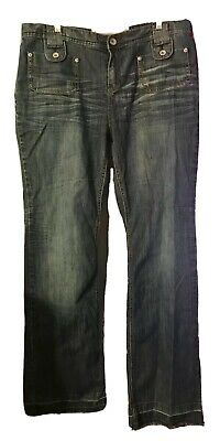 3e737ce62cd EUC Mossimo Supply Co. Jeans Size 17 Low Rise BootCut Denim Unhemd Inseam  33-