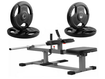 Combo Offer XMark Fitness Seated Calf Raise Machine XM-7613 with rubber Coate...