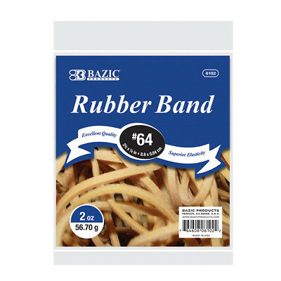 BAZIC 2 Oz./ 56.70 g #64 Rubber Bands Pack oF - 36