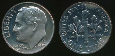 United States, 1974-S Dime, Roosevelt - Proof