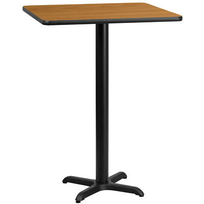 30'' Square Natural Laminate Table Top with 22'' x 22'' Bar Height Table Base