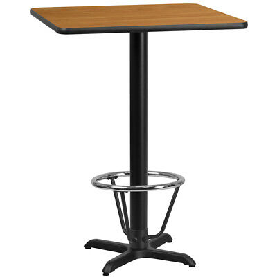 30'' Square Natural Laminate Table Top with 22'' x 22'' Bar Height Table Base...