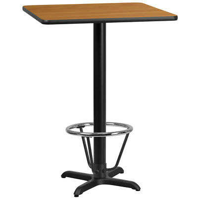 24'' Square Natural Laminate Table Top with 22'' x 22'' Bar Height Table Base...