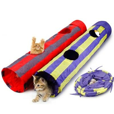 New Pet Cat Tunnel Toy Outdoor Game Playing Foldable Kitten Toys With Plush Ball