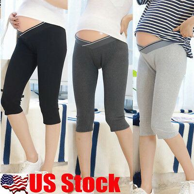 Pregnant Women Mama Soft Leggings Support Abdominal Belly Pant Maternity Trouser