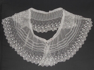 ancien col dentelle broderie TBE