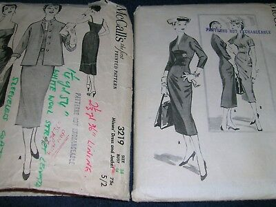 2 x Vintage/Retro Dress patterns Sz 14 & 1/2 & 16   in good condition