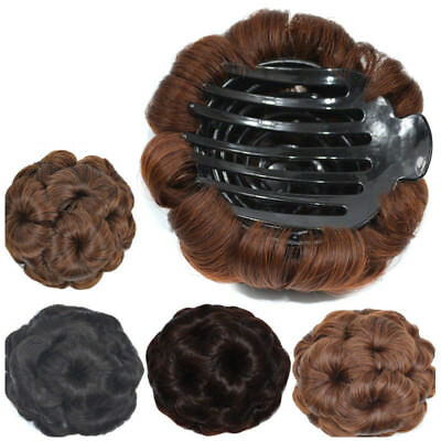Women's Synthetic Pony Tail Hair Extension Comb Wig Bun Scrunchie Accessories