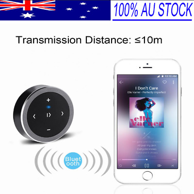 Wireless Bluetooth Media Music Remote Control Mini Button Car Steering Wheel AGD