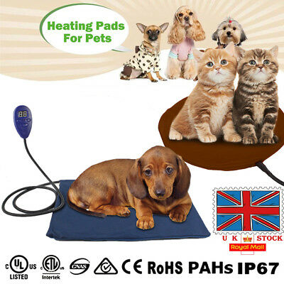 UK Pet Electric Heat Blanket Pad Bed Mat For Small Dog Cat Heating Comfy Warm