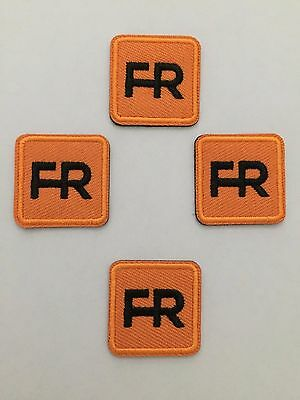 """4 fr patches - 1"""" square.  Iron on or sew on."""