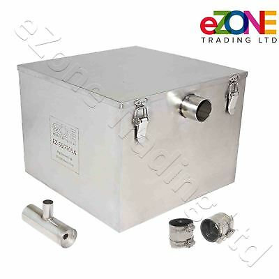 9Kg Commercial Grease Trap Waste Fat Filter Stainless Steel Restaurant Takeaway