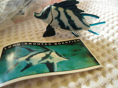 Yowies Series 5, * LONG SNOUTED BOARFISH * + PAPERS