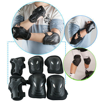 6pcs Elbow Knee Wrist Protective Gear Pad Guard Skateboard Roller Blading Safety