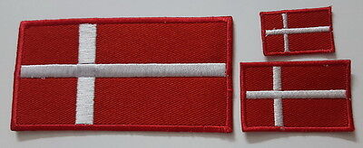 Denmark flag set EMBROIDERED SEW IRON ON PATCH BADGE set
