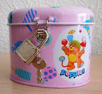 PIGGY BANK WITH PADLOCK POPPLES METAL NEW BUSQUETS YEARS 80 metal