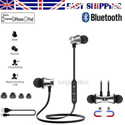Sports In-Ear Wireless Earphones Bluetooth4.2 Stereo Headphones Headsets UK SHIP