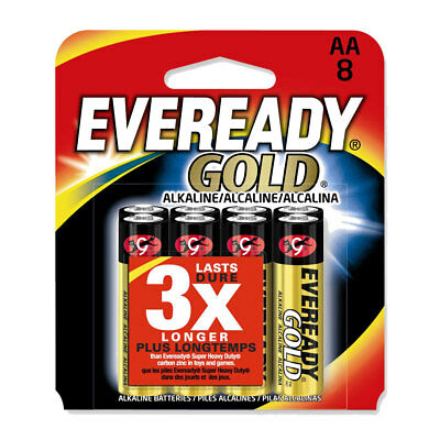 8  Pack of  H/I1 Quality  Eveready Gold Batteries