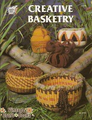 Creative Basketry Using Jute Yarn Leaves Sani Hicks Vintage Weaving Book NEW