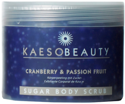 Kaeso Beauty Cranberry and Passion Fruit Sugar Body Scrub 450ml