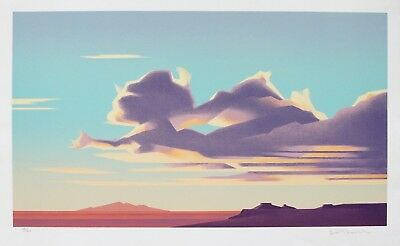 "Ed Mell ""Clouds Over Third Mesa"" Original Stone Limited Edition Lithograph"